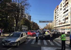FOTO/VIDEO: Culpă comună în accidentul de pe Independenţei